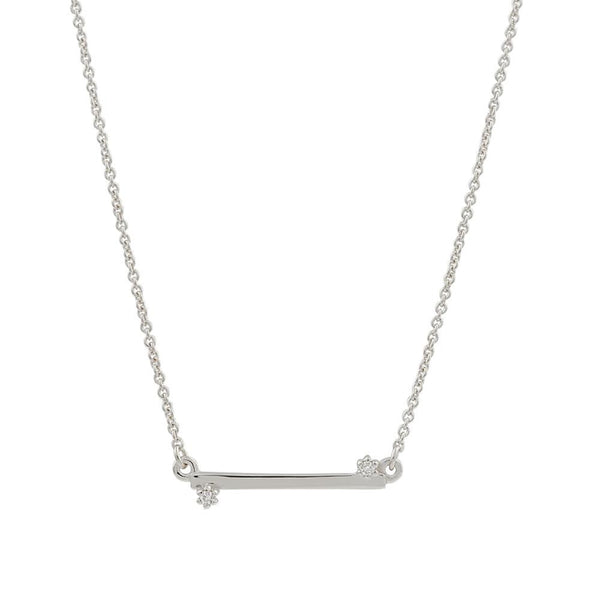 Balance Diamond Necklace // White Gold