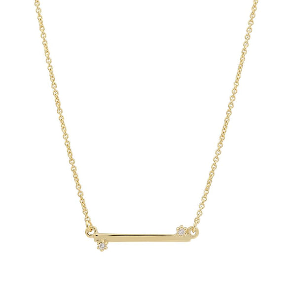 Balance Diamond Necklace // Gold