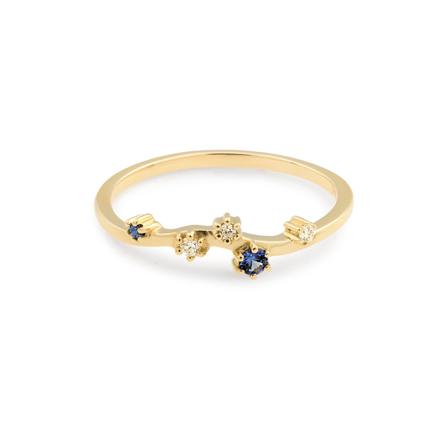 Constellation Diamond Wedding Band // Gold