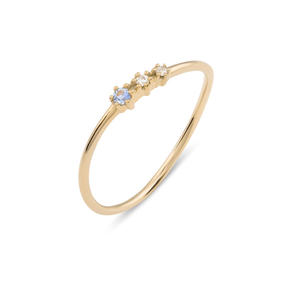 Tidal Diamond Wedding Band // Gold