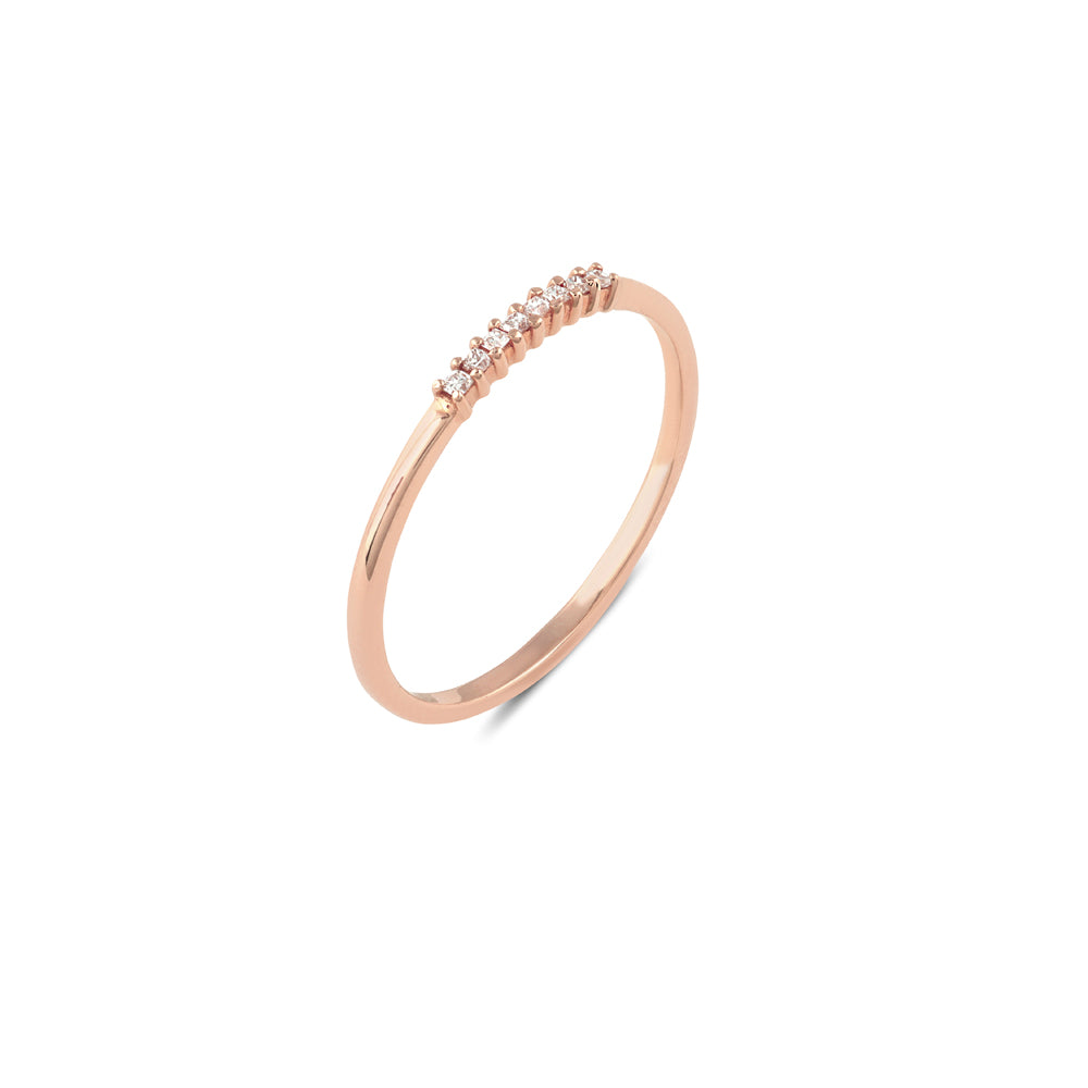 Nova Diamond Wedding Band // Rose Gold