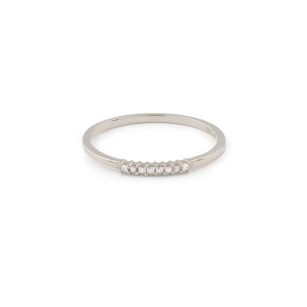 Nova Diamond Wedding Band // White Gold