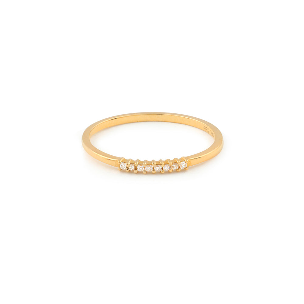 Nova Diamond Wedding Band // Gold