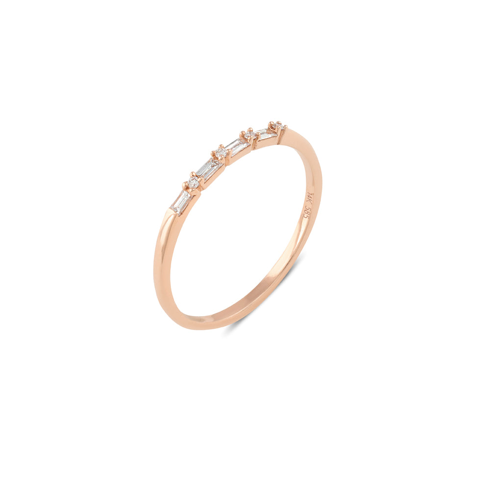 Sierra Diamond Wedding Band // Rose Gold