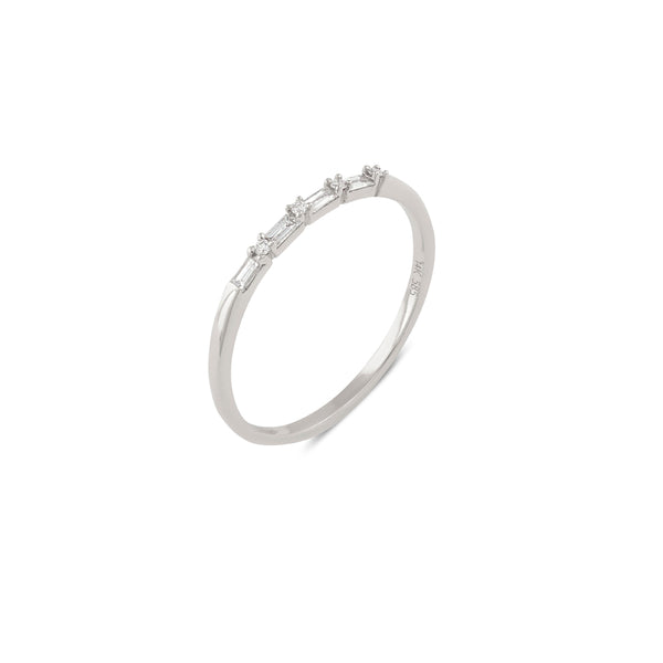 Sierra Diamond Wedding Band // White Gold