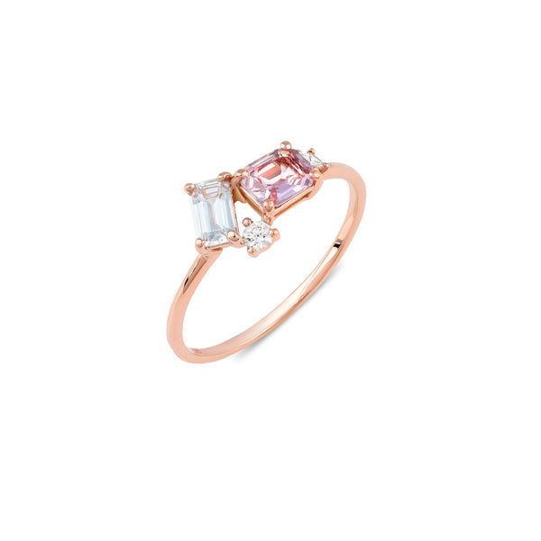Prism Sunset Sapphire Ring // Rose Gold (One-of-a-kind)