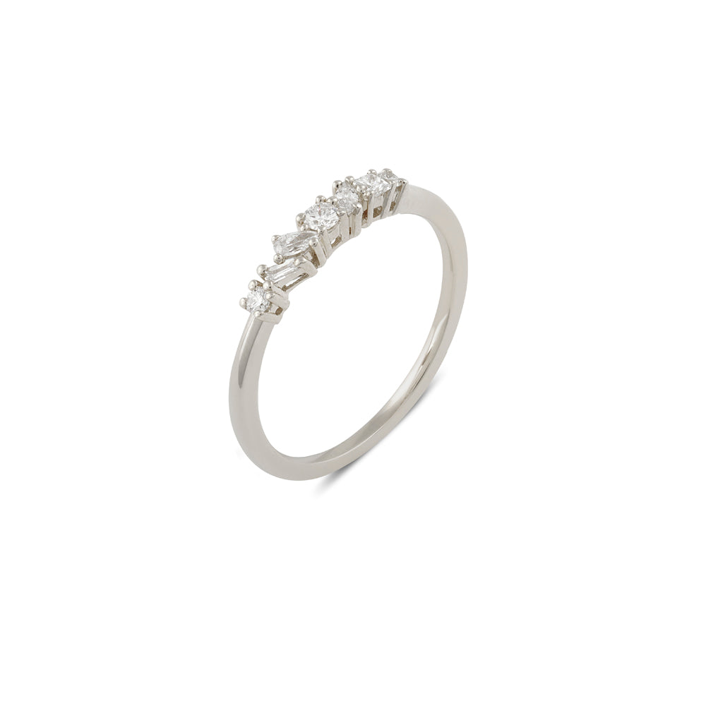 Muse Diamond Wedding Band // White Gold