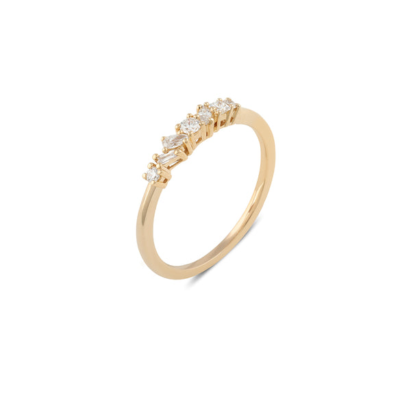 Muse Diamond Wedding Band // Gold