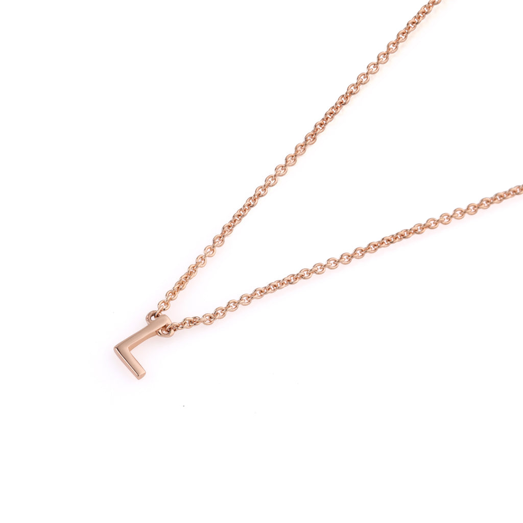 The Letter Necklace // Rose Gold