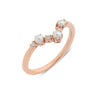 The Pearl Arc Diamond Wedding Band // Rose Gold