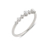 The Pearl Diamond Infinity Ring // White Gold
