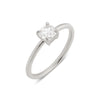 The Cushion Solitaire Diamond Ring // White Gold