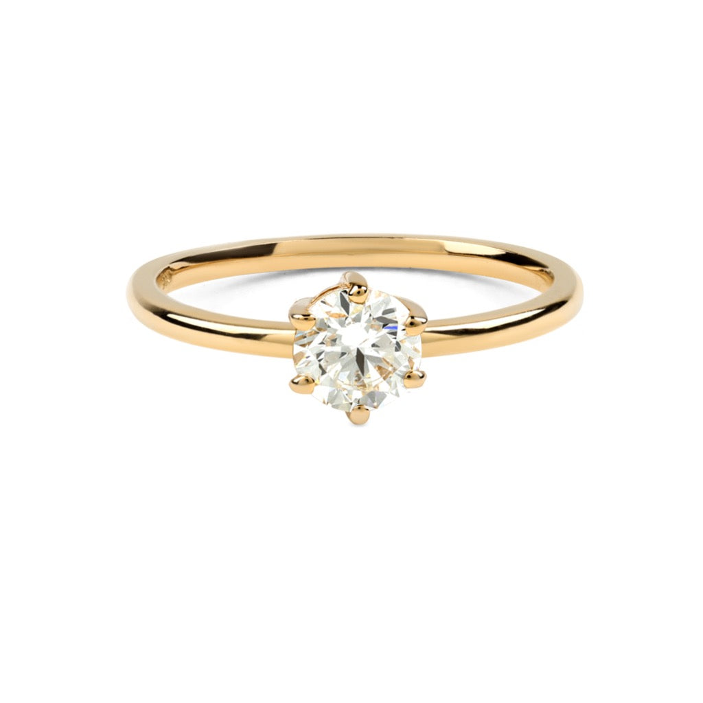 The Round Solitaire Diamond Ring // Gold