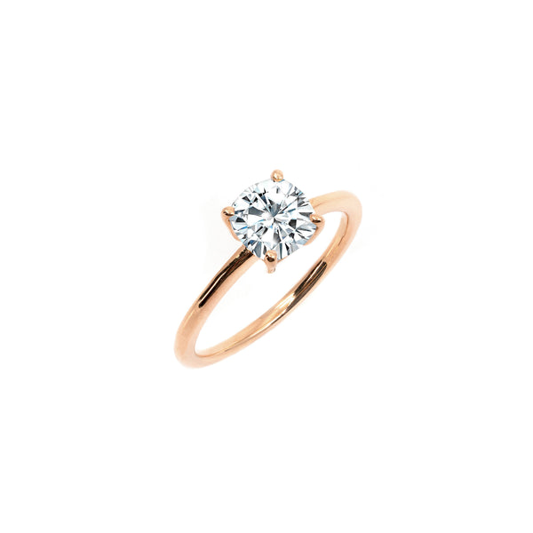 The Cushion Moissanite Engagement Ring // Rose Gold