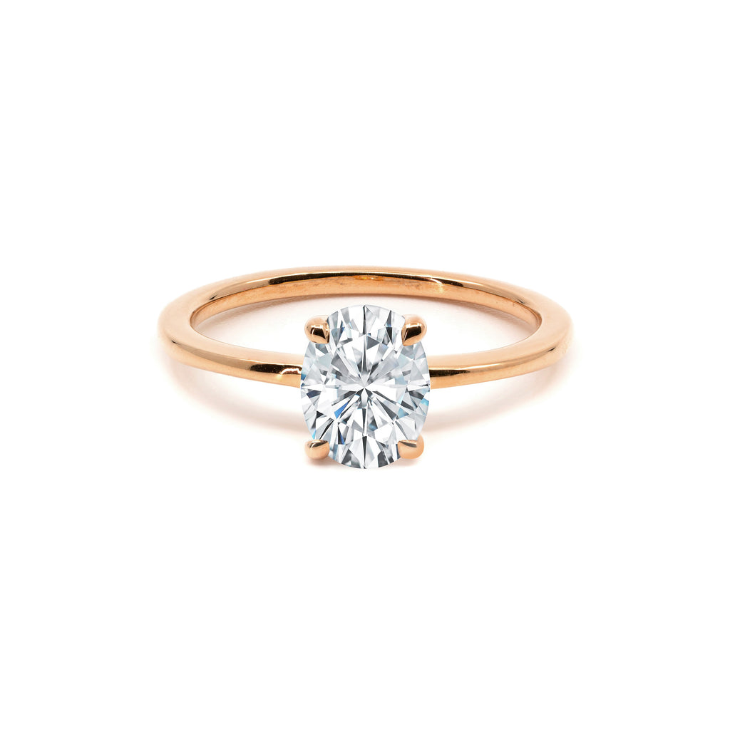 The Oval Moissanite Engagement Ring // Rose Gold