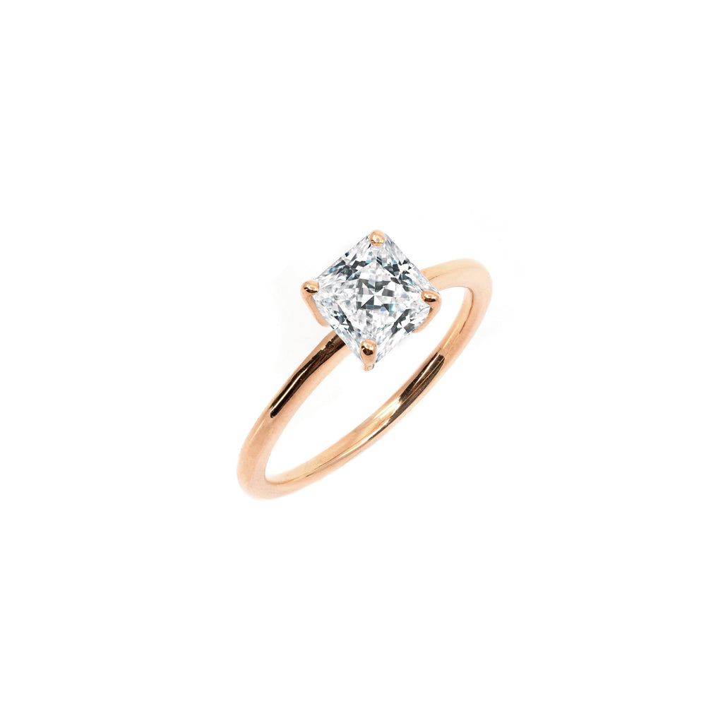 The Princess Moissanite Engagement Ring // Rose Gold