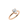 The Pear Moissanite Engagement Ring // Rose Gold