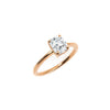 The Radiant Moissanite Engagement Ring // Rose Gold