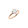 The Round Moissanite Engagement Ring // Rose Gold