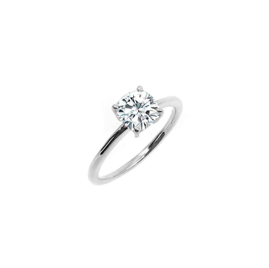 The Cushion Moissanite Engagement Ring // White Gold