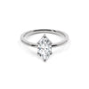 The Marquise Moissanite Engagement Ring // White Gold