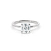 The Princess Moissanite Engagement Ring // White Gold