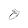 The Pear Moissanite Engagement Ring // White Gold
