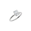 The Radiant Moissanite Engagement Ring // White Gold