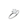 The Round Moissanite Engagement Ring // White Gold