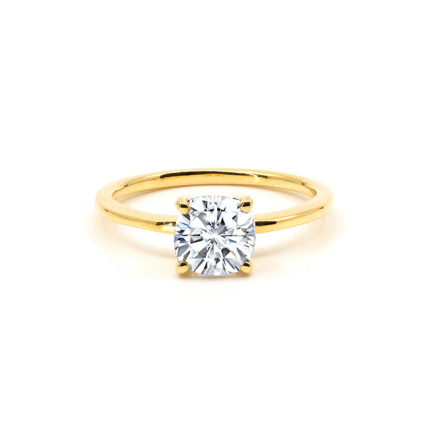 The Cushion Moissanite Engagement Ring // Gold