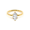 The Marquise Moissanite Engagement Ring // Gold