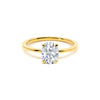 The Oval Moissanite Engagement Ring // Gold