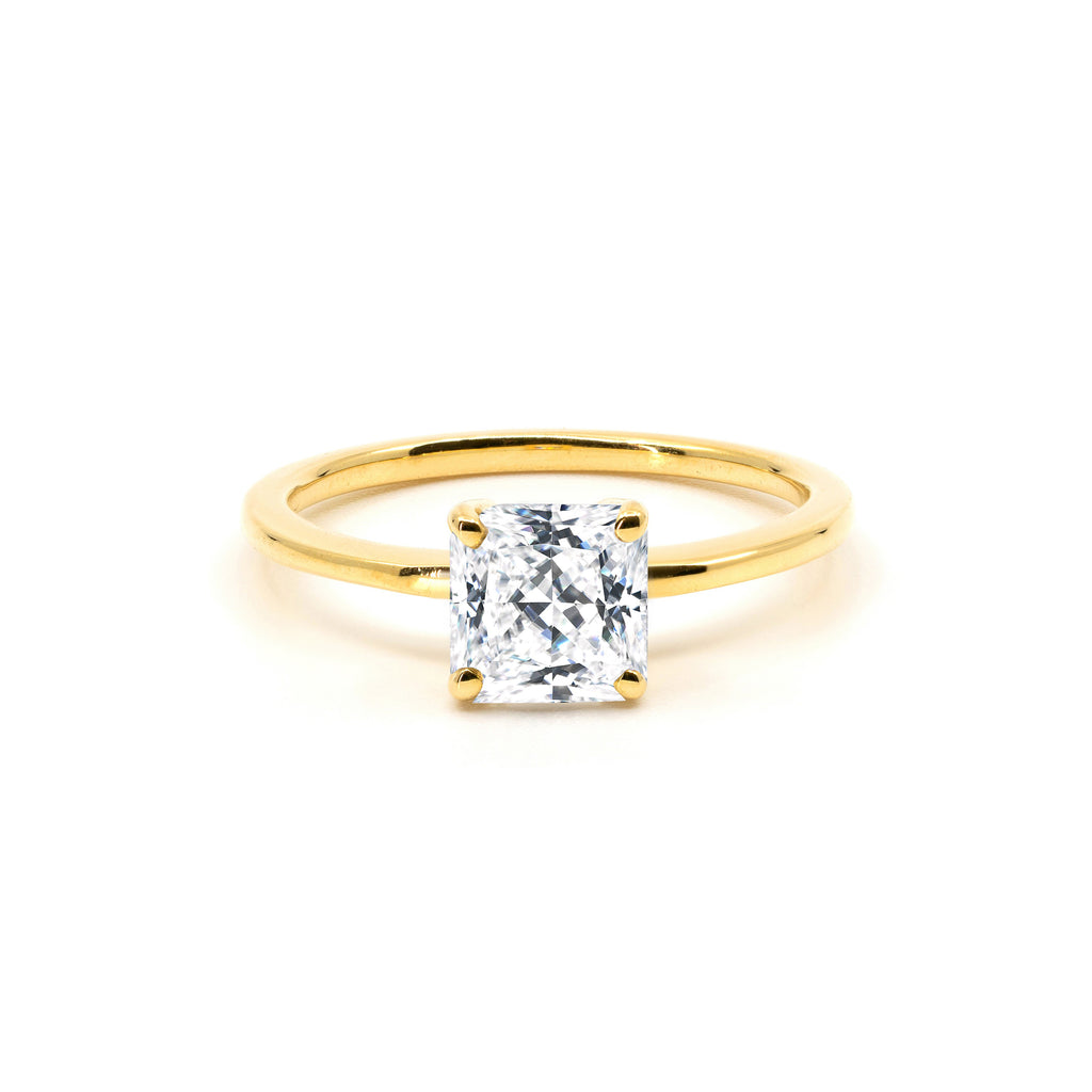 The Princess Moissanite Engagement Ring // Gold