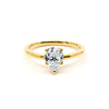 The Pear Moissanite Engagement Ring //  Gold
