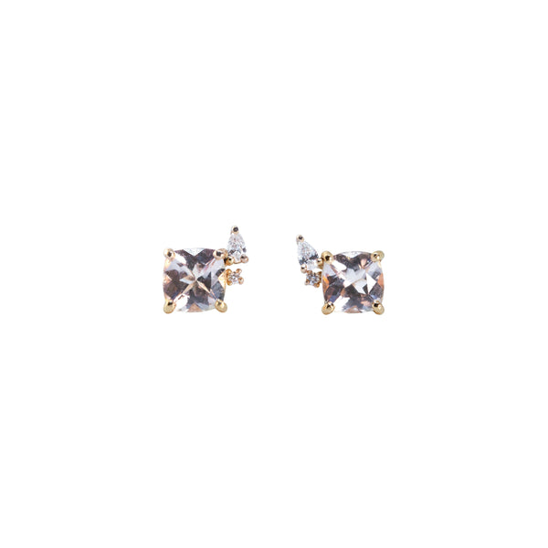 Blossom Diamond Earrings // Gold - Lucy & Mui