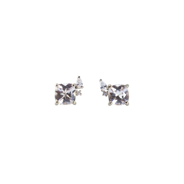 Blossom Diamond Earrings // White Gold - Lucy & Mui
