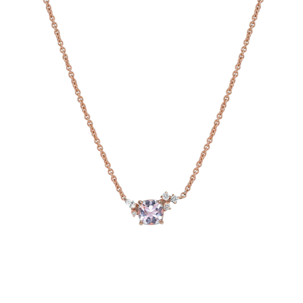 Blossom Diamond Necklace // Rose Gold - Lucy & Mui
