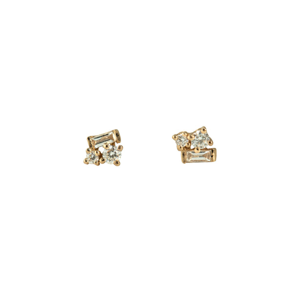 Fairy Diamond Earrings // Gold - Lucy & Mui