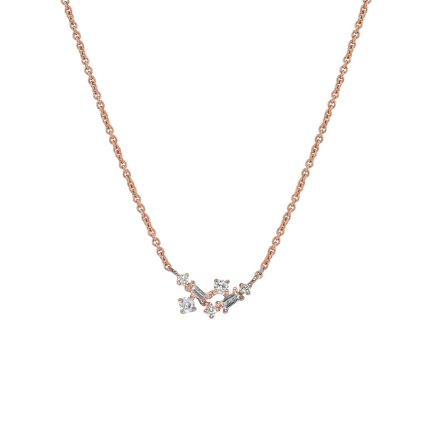 Fairy Diamond Necklace // Rose Gold - Lucy & Mui