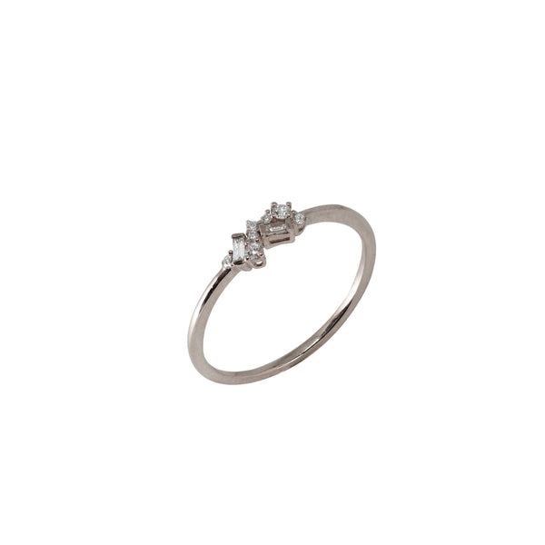 Fairy Diamond Ring // White Gold - Lucy & Mui