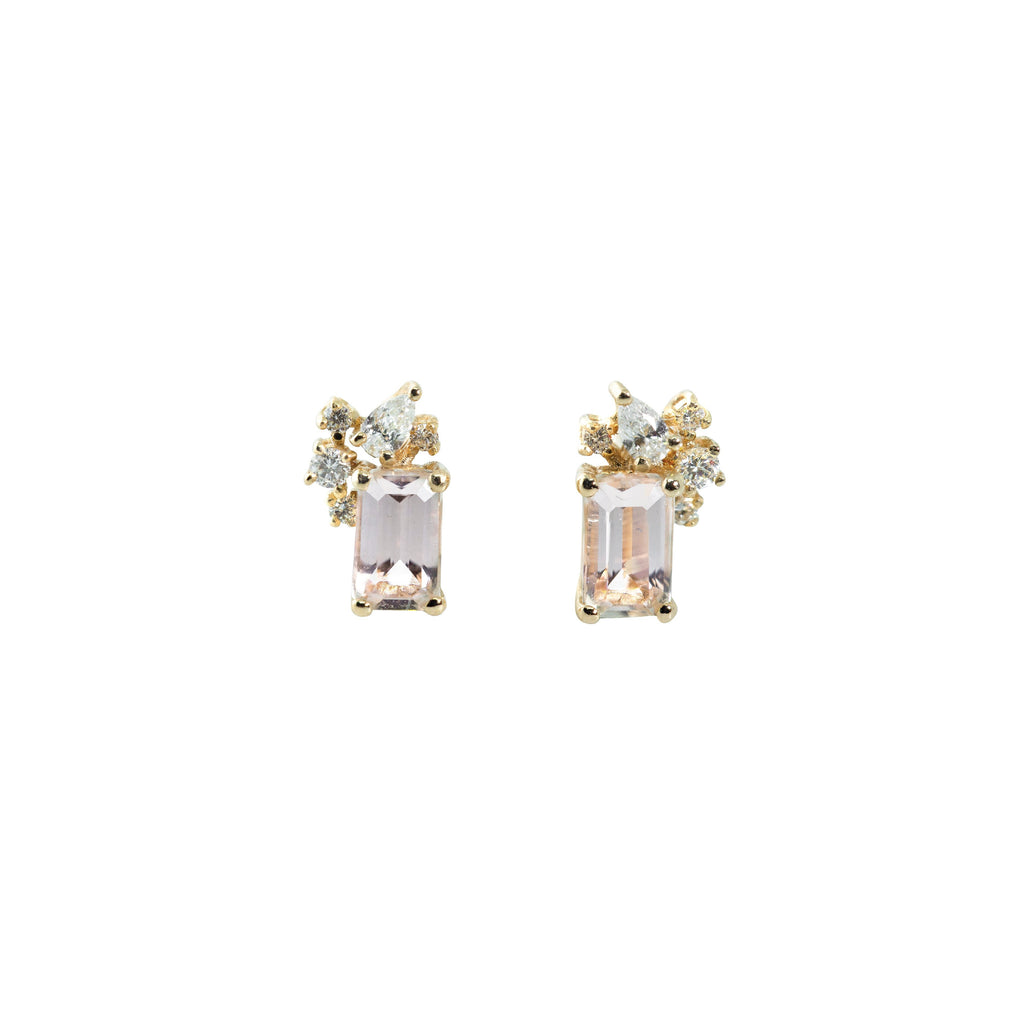 Diamond Drift Earrings // Gold - Lucy & Mui