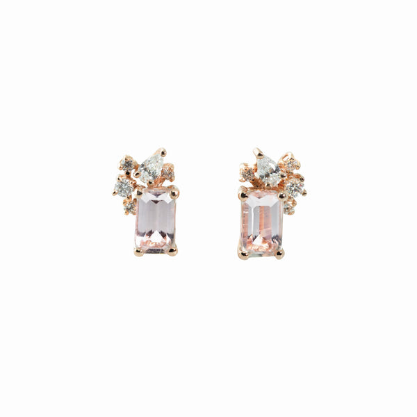 Diamond Drift Earrings // Rose Gold