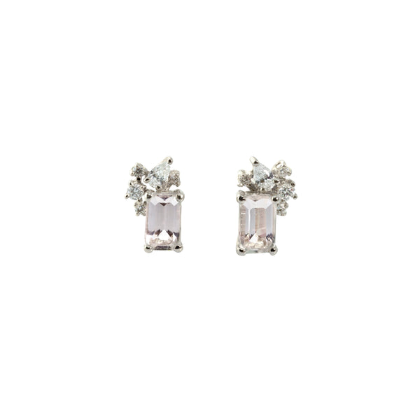 Diamond Drift Earrings // White Gold - Lucy & Mui