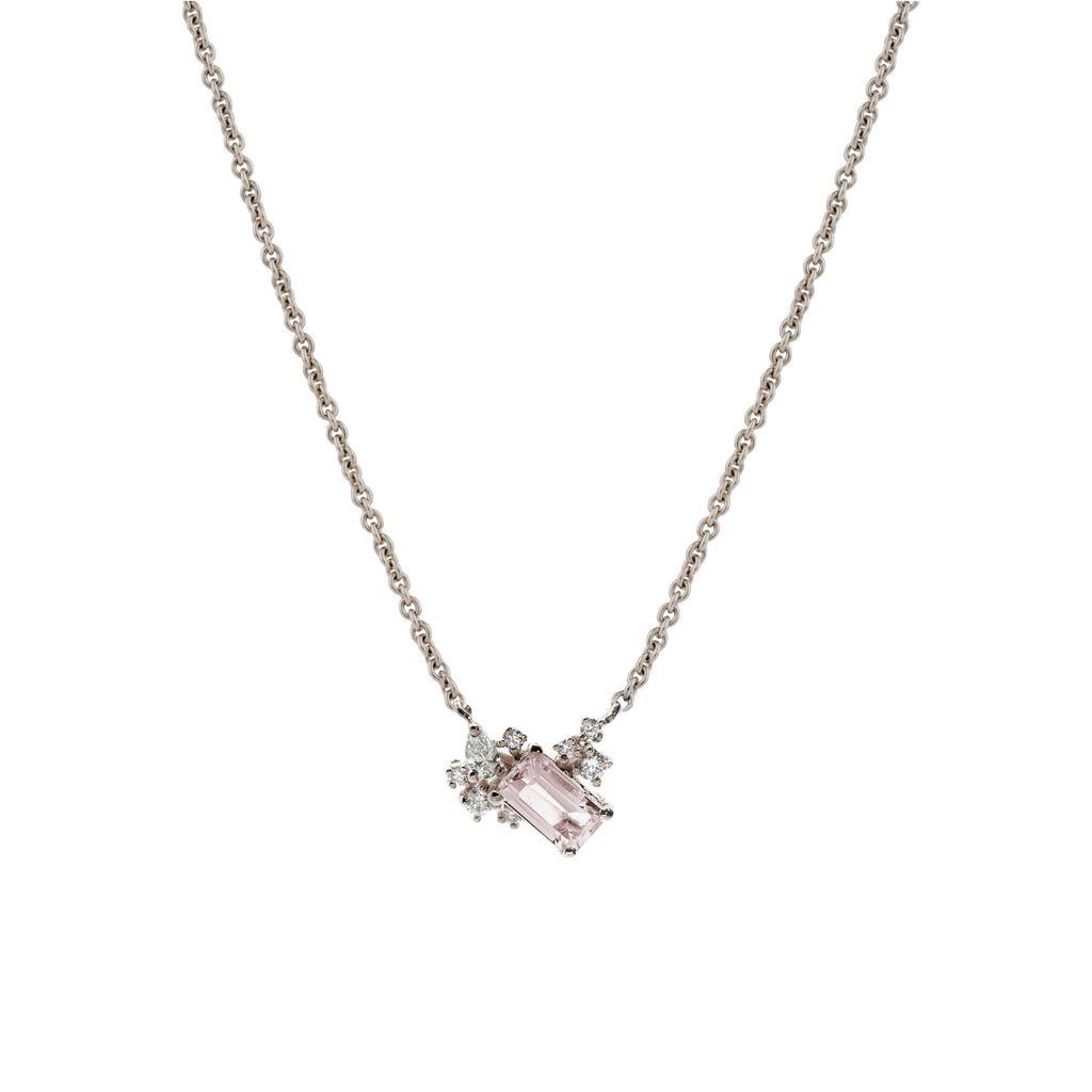 Diamond Drift Necklace // White Gold - Lucy & Mui