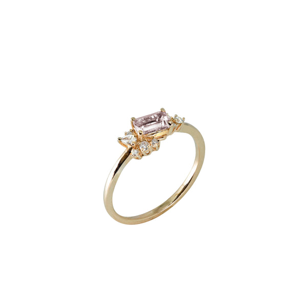 Diamond Drift Ring // Gold - Lucy & Mui
