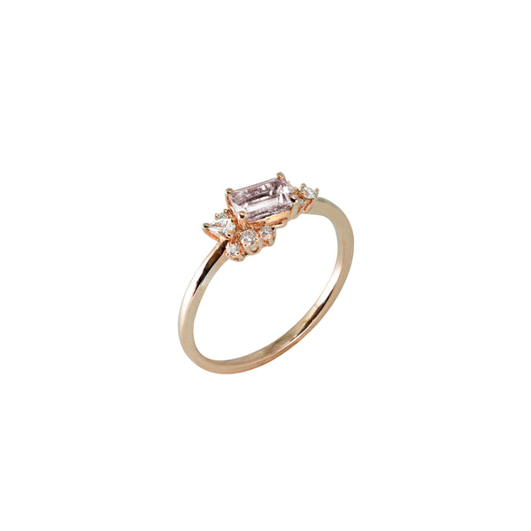 Diamond Drift Ring // Rose Gold