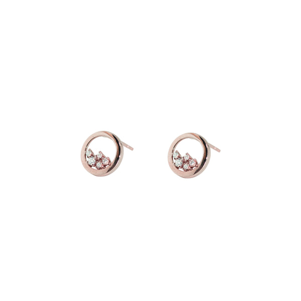Enfold Diamond Earrings // Rose Gold