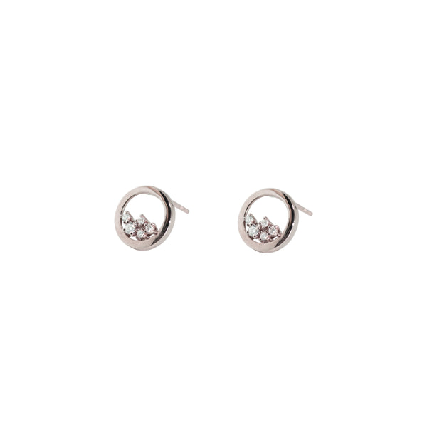 Enfold Diamond Earrings // White Gold - Lucy & Mui