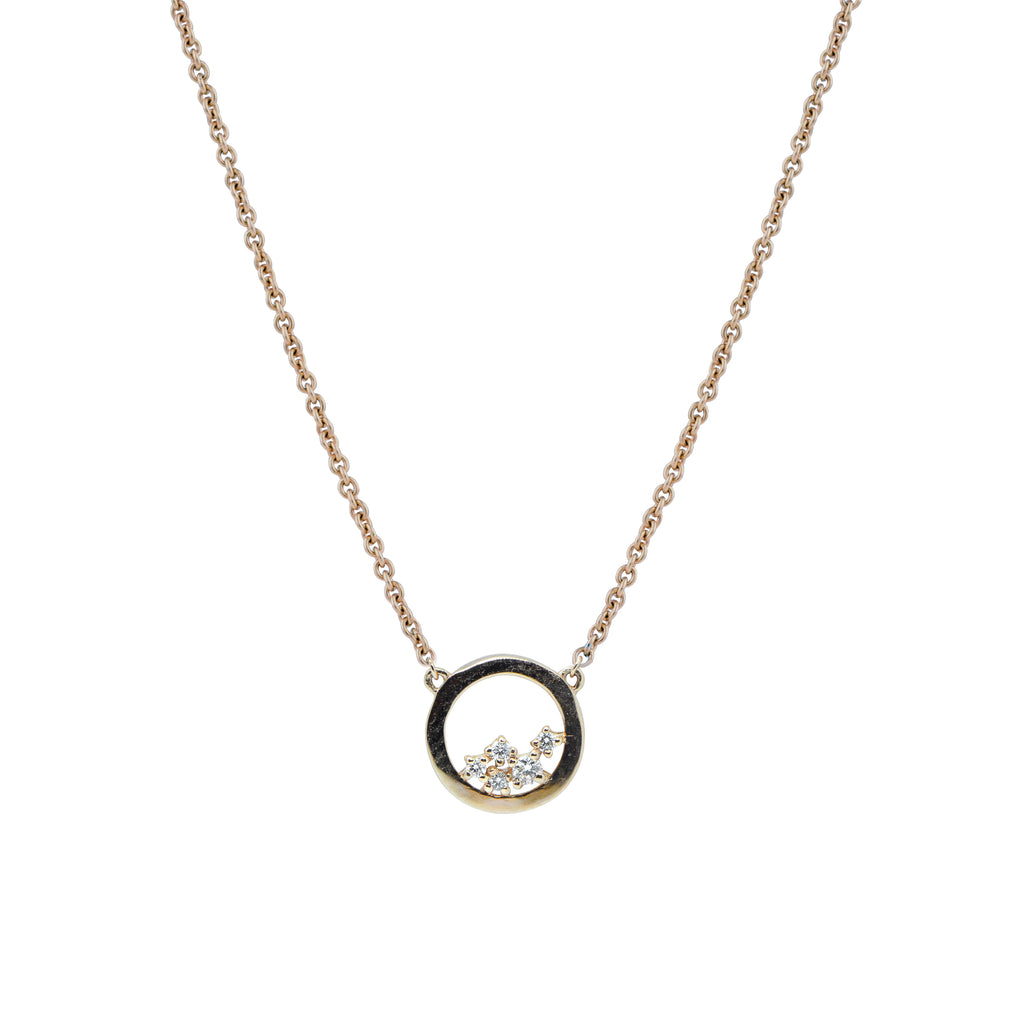 Enfold Diamond Necklace // Gold