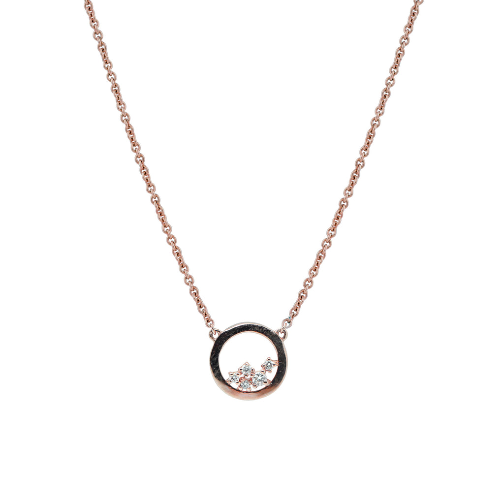 Enfold Diamond Necklace // Rose Gold - Lucy & Mui